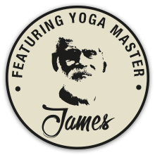 Con il maestro di Yoga James